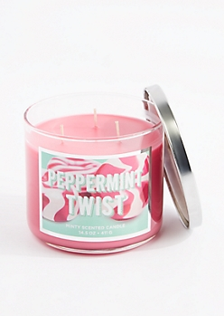 3-Wick Peppermint Twist Scented Candle