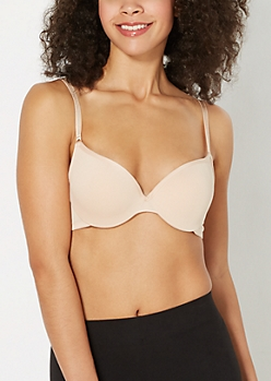 Solid Nude Demi Push-Up Bra