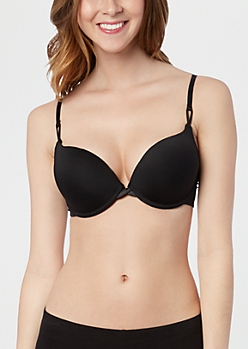 Classic Black Double Push-Up Bra