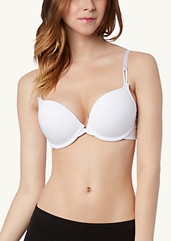 Classic White Double Push-Up Bra