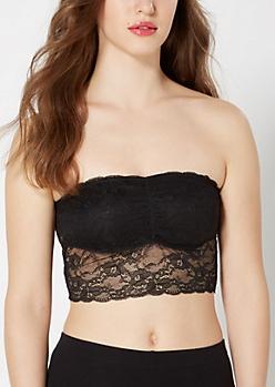 Black Long Lace Bandeau
