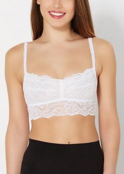 White Floral Lace Bralette