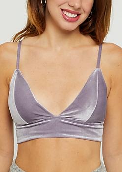 Lavender Velvet Bralette