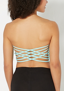 Light Green Strappy Bandeau