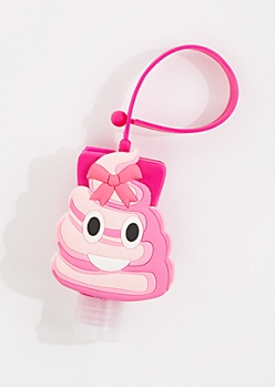 Cotton Candy Sanitizer & Poo Emoji Case