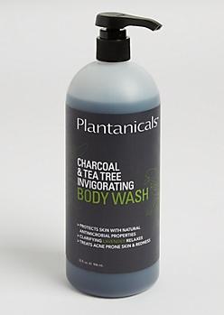 Charcoal & Tea Tree Invigorating Body Wash By Plantanicals