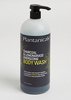 Charcoal & Lemongrass Energizing Body Wash By Plantanicals