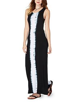 Black Tie Dye Daydreams Maxi Dress
