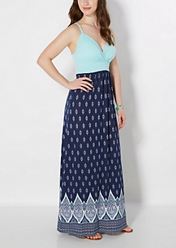 Tribal Diamond Empire Maxi Dress