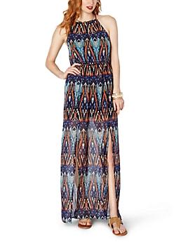 Chevron Blur Maxi Dress