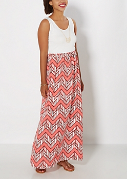 Chevron Necklace & Maxi Dress