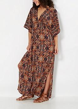 Gypsy Paisley Maxi Dress