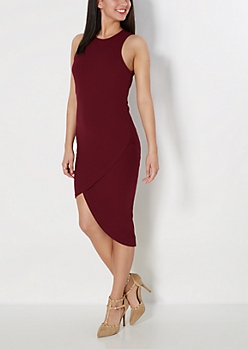 Tulip Ribbed Midi Dress