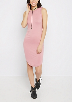 Violet Super Soft Midi Bodycon Dress