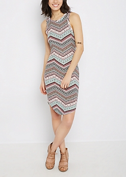 Boho Chevron Super Soft Bodycon Dress
