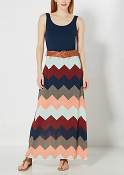 Tank Top Chevron Maxi Dress