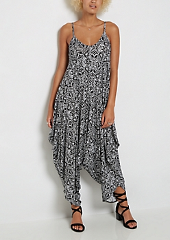 Geo Tribal Harem Jumpsuit