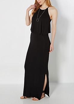 Black Popover Maxi Dress