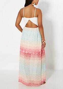 Multi Tribal Maxi Dress