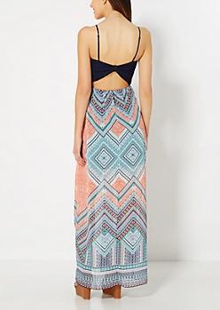 Crochet Bodice Folklore Maxi Dress