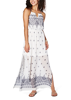 Ivory Paisley Picnic Maxi Dress