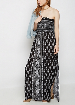 Floral Folklore Off Shoulder Maxi Dress