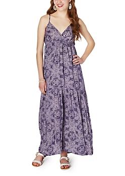Paisley Mermaid Maxi Dress