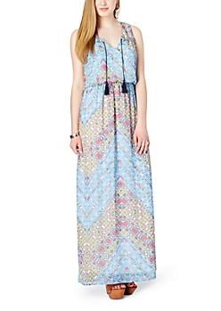 Painted Glass Folklore Maxi Dress