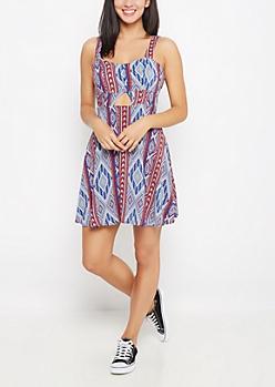 Southwest Americana Cut-Out Dress