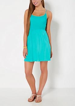 Green Smocked Cami Sundress