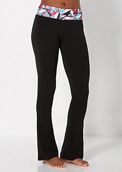 Fuchsia Geo Yoga Pant