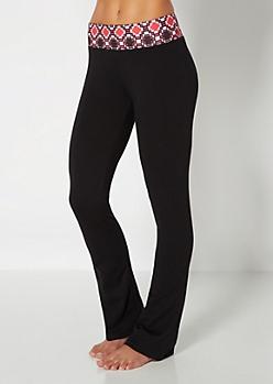Red Geo Print Yoga Pant