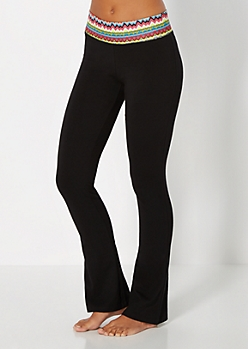 Neon Yellow Chevron Yoga Pant
