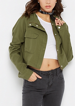 Cropped Military Jacket By Sadie Robertson X Wild Blue