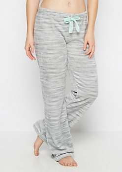 Gray Space Dye Plush Sleep Pant