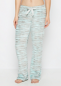 Mint Space Dye Plush Sleep Pant