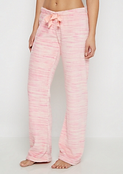 Pink Space Dye Plush Sleep Pant