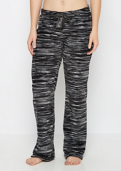 Black Space Dye Plush Sleep Pant
