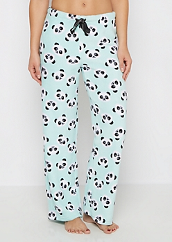 Mint Panda Plush Sleep Pant