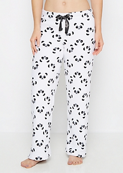 Plush Panda Fleece Sleep Pant