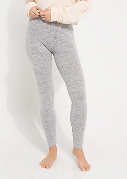 Heather Gray Hacci Knit Cozy Legging