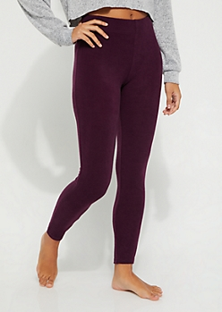Purple Hacci Knit Cozy Legging