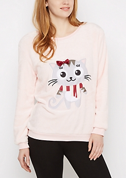 Kitty Plush Sleep Shirt