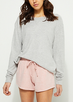 Gray Hacci Knit Sweatshirt