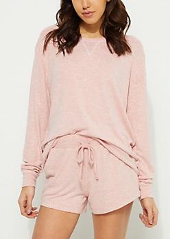 Coral Hacci Knit Sweatshirt