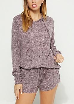 Purple Hacci Knit Hoodie