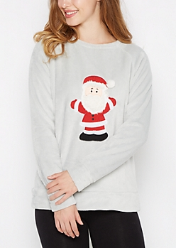 Fluffy Santa Beard Plush Sleep Top