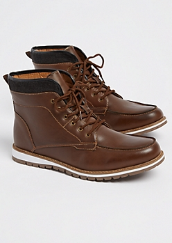 Dark Brown Moccasin Toe Boot
