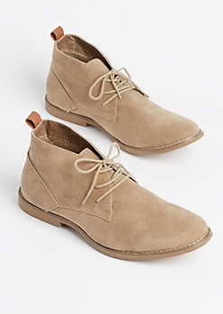 Sand Faux Suede Chukka Boot