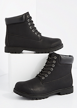 Black Lug Work Boot